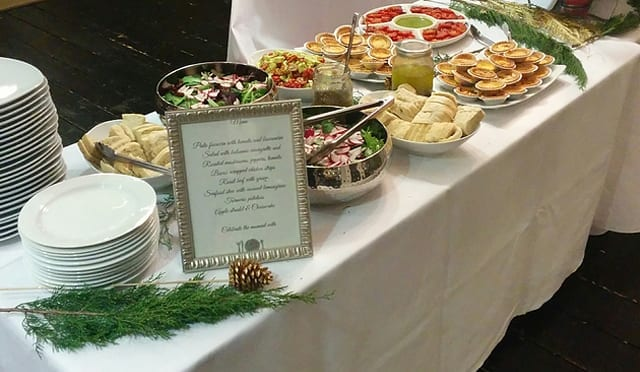 Private chef buffet catering